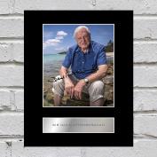 Sir David Attenborough Signed Mounted Photo Display
