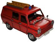 Model Car Ford Transit Fire Truck - Retro Tin Model