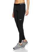 nike womens pro cool training tights black/white 725477-010 size large