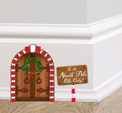 Elf Door Fairy Door Sticker Set with Magical Elf Doorway and North Pole Sign by Ellis Graphix