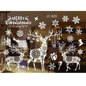 37YIMU 1 Pcs Christmas Tree Wallpaper Sticker Home Window Decor Decal,JC820