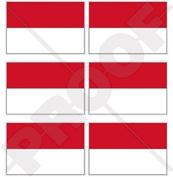 "MONACO Flag Monte Carlo 40mm (1,6"") Mobile Cell Phone Vinyl Mini Stickers, Decals x6"