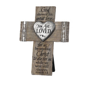 Lighthouse Christian Products You are Loved Wall/Desktop Cross, 15cm x 20cm