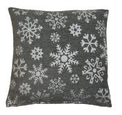 Sparkle Snowflakes Silver Grey Christmas Cushion Cover 45x45cm