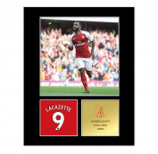 Alexandre Lacazette Signed Mounted Photo Display Arsenal