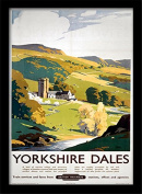 """National Railway Museum """"Yorkshire Dales (1)"""" Framed Print, Multi-Colour, 30 x 40 cm"""