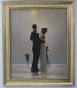 Dance me to the End of Love by Jack Vettriano Framed Canvas Effect 51cm x 44cm Art Print Picture
