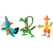 TOMY Pokemon Action Pose Figure 3-Pack, Combusken, Marshtomp and Grovyle