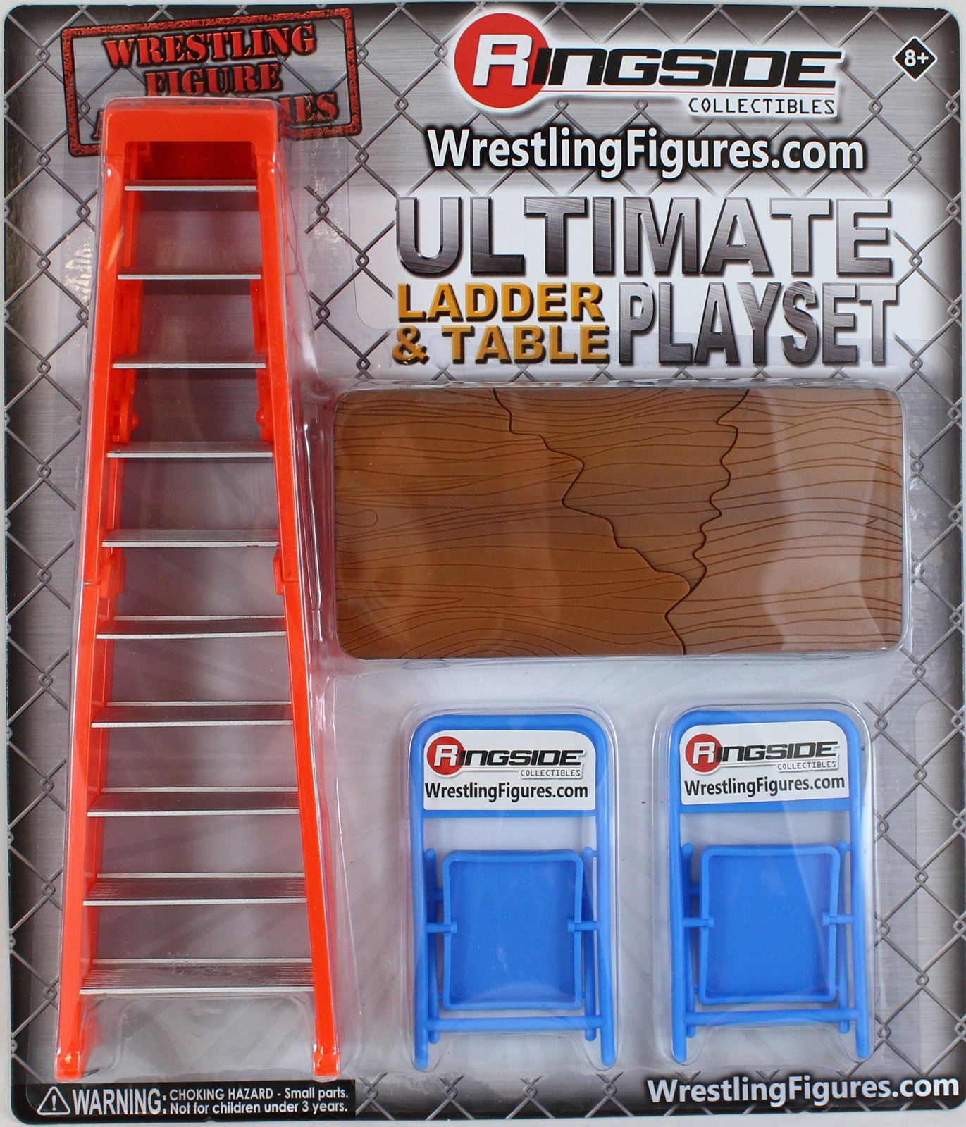 Ultimate Ladder & Table Playset (Orange) - Ringside Collectibles Exclusive  Toy Wrestling Action Figure Accessories