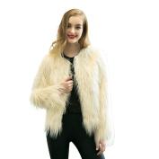 JianFeng Women's Vintage Winter Warm Fluffy Faux Fur Coat Jacket Outwear