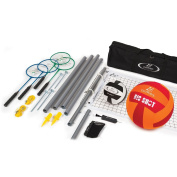 Premium Steel Volleyball/Badminton Set