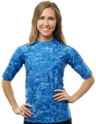 Aqua Design Women UPF Short Sleeve Loose Fit Sun Protection Rash Guard Swim Surf Athletic Top Vest T-Shirt