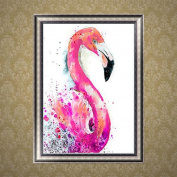 Profusion Circle Flamingo DIY Craft Resin Diamond Painting Embroidery Home Wall Decor
