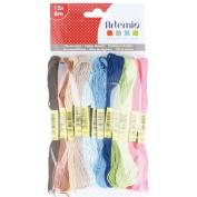 12 multicoloured cotton thread x 8 m - Home sweet home