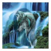 Broadroot Waterfall Wolf 5D Diamond DIY Painting Kit Home Decor Craft 35 X 35cm