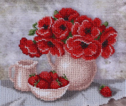 Sweet Breakfast Counted Bead Embroidery Kit 23x19 cm