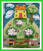 Chreey Scenery Series (5) - Fantasy Pasture Cross Stitch Fashion Crafts Home Art Decoration [22x29cm]
