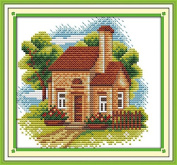 Chreey Scenery Series (8) - Country's Life Style Cross Stitch Fashion Crafts Home Art Decoration [19x17cm]