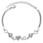 Youkara Angel Design Fashion Bracelets Crystal Diamond Bracelet Women Bracelet Charm Bracelet Jewellery Chain
