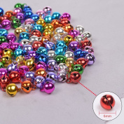 Zhichengbosi 100 pcs 6mm Colourful Christmas Jingle Bells Small Bells