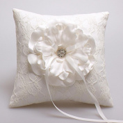 Rhinestones Ribbon Bowknot Flower(s) Satin Wedding Ceremony Beautiful Bridal Ring Pillow Accessories Decoration