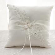 21*21CM Wedding Ring Pillow Flower(s) Satin Silk Ring Pillows Decor Bridal Mariage Decoration Wedding Party Decor