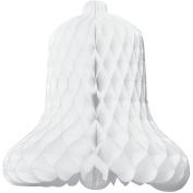 Tissue Paper Honeycomb Bell Decoration 23cm - White #3504-008