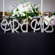 Prevently Brand New Creative MR & MRS Wooden Letters Wedding Decoration Present Props Table Adornment Home Garden Desk Decor