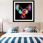 Moresave Colourful Owl in Dark Light Diamond Painting Cross Stitch Home Decoration