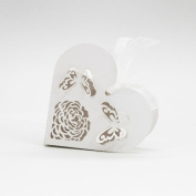 50Pcs Sweet Married Heart Wedding Favour Box Gift Boxes Candy Paper Party Box Case