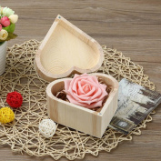 Portable Heart Shaped Wooden Storage Box Jewellery Box Wedding Gift Box Holder