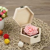 Portable Hexagonal Shaped Wooden Storage Box Jewellery Box Wedding Gift Box Holder