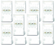 10 x10 Handkerchiefs Wedding Man Wife Happy Tears Church Ornament, Gold