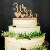 VALINK Wooden Cake Topper Cake Decoration Tool for Wedding Birthday Baby Shower Party Supplies