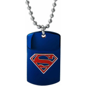 Stainless Steel Superman Dog Tag, 60cm Bead Chain
