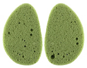Precision Beauty Facial Cleansing Sponges, Antioxidant Green Tea, 2 Ct