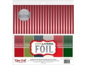 Echo Park Dots & Stripes Silver Foil Stripe Coll Kit
