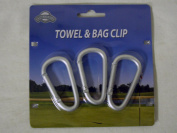 On Course Towel & Bag Clip (3 Hook Pack) Golf Accessory NEW