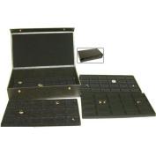 4 Black Trays Charm Display & Jewellery Travel Case Box