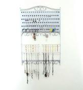Mango Steam Wall-Mounted Jewellery & Earring Organiser, Silver