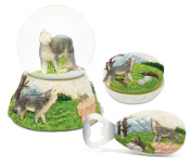 Puzzled Wolf Resin Stone Finish Collection including Jewellery Box,Snow Globe a