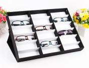 18 Grids Sunglass Watches Jewellery Display Holder Box Storage Case Organiser Black