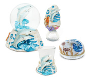 Puzzled Dolphin Resin Stone Collection Jewellery Box,Snow Globe,Magnet Bottle O