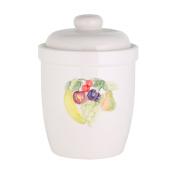 axentia Fermenting Crock - Ceramic Pickling Jar for Fruit Preserving, Kraut and Fermented Vegetables - Pickling Crock, White 5 Litre