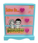 Love Is…. Comic Strip Characters Tri-Drawer Mini Dresser Jewellery Box