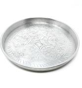 Oriental Moroccan oriental Round Tray Silver Size