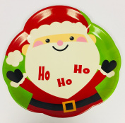 Medium Christmas Theme Serving Tray - Ho Ho Ho Santa Tray