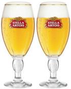 Stella Artois Chalice Half Pint Beer Lager Glass Glasses 300ml Set of 2