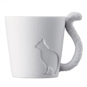 Ceramic Candle Mug Rack End Cat. Fine Bone China Mugs Tea Light Tealights Candles Cats