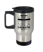Bartender Coffee Mug - Because Full Time Multitasking Ninja Is Not An Actual Job Title - Funny Bartending Themed Gift - 410ml Stainless Steel Travel C